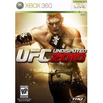 Manual De Instruções Do Jogo Ufc 2010 / Xbox
