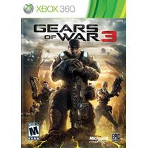 Gears Of War 3 Xbox 360 Manual E Legenda Portugues!
