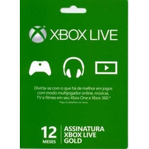 Xbox Live Assinatura Gold 12 Meses Para Xbox 360 Nota Fiscal