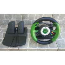 Xbox Clássic (volante+pedal) Jogo Automovel Carros Sem Teste