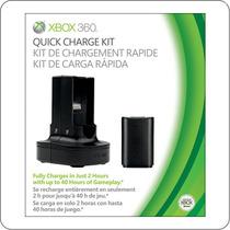 Carregador + Bateria Quick Charge - Original Xbox 360 - Novo
