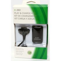 Kit Carregador E Bateria Pra Controle Xbox360 Pronta Entrega