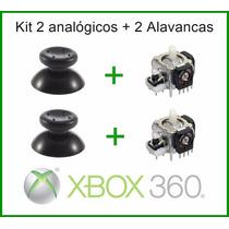 Kit 2 Analógico + Alavanca Xbox 360 Microsoft Controle Botão