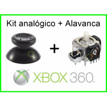 Kit Analógico + Alavanca Xbox 360 Microsoft Controle Botão