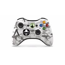 Controle Xbox360 Wireless Camuflage Artic Microsoft +sem Fio