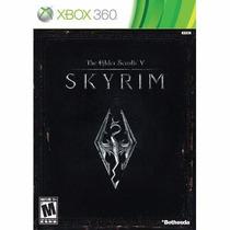 Manual Instruções Jogo The Elder Scrolls V Skyrim Xbox 360