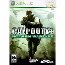 Manual De Instruções Call Of Duty 4: Modern Warfare Xbox 360