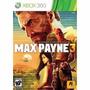 Manual Instruções Do Jogo Max Payne 3 Xbox 360 Original