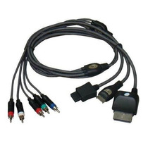 Cabo De Video Componente Rca Video Game Wii, Ps3 Xbox360