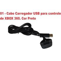 Carregador De Bateria Do Controle Sem Fio Xbox360 Preto