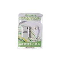 Bateria Recarregável Para Controle Xbox 360 4800 Mah + Cabo
