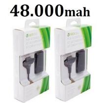 Kit 2 Bateria Carregador Do Controle Xbox 360 Slim 48.000mah