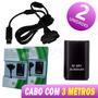 2x Unds Bateria 30000mah Cabo Carregador Controle Xbox360