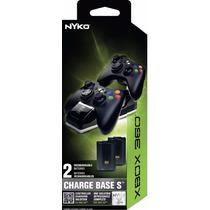 Base Carregadora P/ 2 Controles Xbox360+ 2 Baterias Grátis