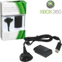 Bateria E Carregador P/ Controle Xbox 360 24000mah - 35horas
