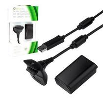 Kit Bateria + Cabo Carregador Para Controle De Xbox360