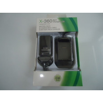 Kit Bateria + Estação De Recarga + Cabo Usb Controle Xbox360