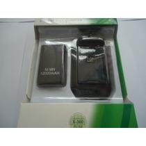 Kit Bateria 12000mah + Estação De Recarga Controle Xbox 360