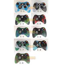Capa Case Camuflada De Silicone Lavável Controle De Xbox 360