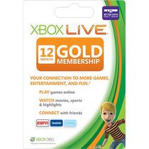 Xbox Live Gold Cartão 12 Meses Americano Usa Envio Imediato!