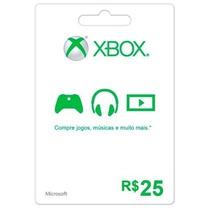Cartão Xbox Live Brasil Microsoft Points Gift Card R$ 25