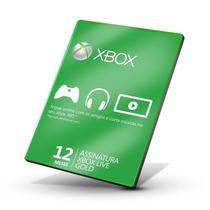 Xbox Live Gold - Cartão De 12 Meses - Xbox 360