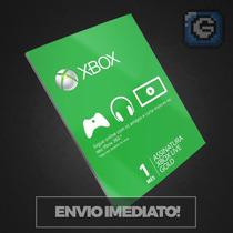 Xbox Live Gold Brasil Br, Usa - Cartão 1 Mês Envio Imediato