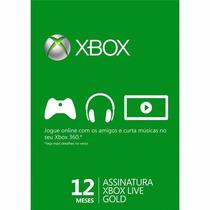 Xbox Live Gold 12 Meses ( Cartão De 25 Digitos)