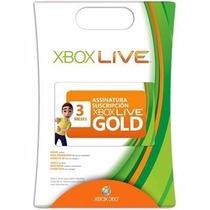 Cartão Xbox Live Gold Card 3 Meses