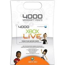 Xbox Live Cartão 4000 Microsoft Points