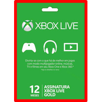 Xbox Live Gold 12 Meses Br Usa Xbox One E Xbox 360 + Barato