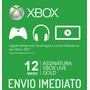 Xbox Live Gold Brasil Br - Cartão 12 Meses - Envio Imediato!