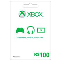 Microsoft Xbox Live Cartão R$ 100 Reais Gift Points Brasil