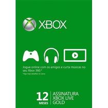 Assinatura Xbox Live Gold 12 Meses ( Código Para Xbox One )