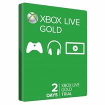 Xbox Live Gold 2 Dias Trial - Us E Br Envio Imediato