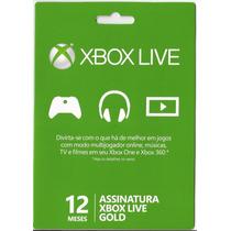 Cartão Xbox Live Gold Assinatura De 12 Meses