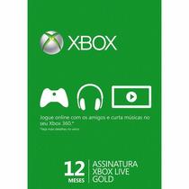 Xbox Live Gold Brasil - Cartão De 12 Meses - Envio Rapido!