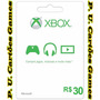 Cartão Xbox Live (crédito R$ 30) Br - Envio Imediato !!!