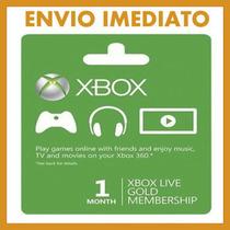 Card Gold Xbox 1 Mes Envio Imediato!