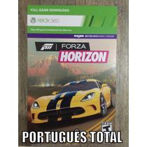 Cartão Jogo Forza Horizon Xbox 360 - Download - Digital