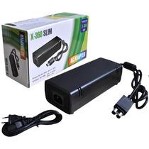 Fonte Xbox 360 Slim Bivolt 110v 220v 135w Cabo Força Energi