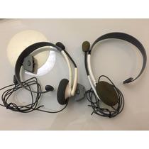 Fone/headset Original Xbox 360 Branco - Pouco Uso