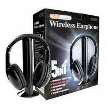 Fone De Ouvido Sem Fio 5 Em 1 Mh2001 Wireless Fm Radio Skype