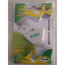 Adaptador Conversor De Fone Ouvido E Mic P Controle Xbox 360