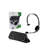 Fone De Ouvido Headset Xbox 360 Origina + Teclado Chatpad