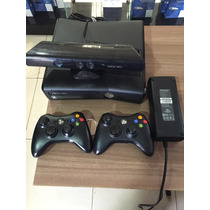 Xbox 360 Slim 250gb + 2 Controles + Kinect + 10 Brindes.
