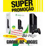 Xbox 360 4gb - Dvd, Wi-fi, 1 Controle S/ Fio 1 Jogo Peggle 2