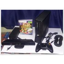 Xbox 360 Slim 4 Gb Kinect + Controle S Fio + Jogo Adventures