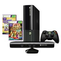 Console Xbox 360 4gb Com Kinect + Game Kinect Mania Virtual