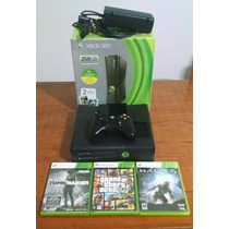 Xbox 360 Bloqueado Original + 3 Jogos + Hd250gb - Semi Novo